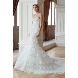 فستان زفاف _اكتاف المفتوحة