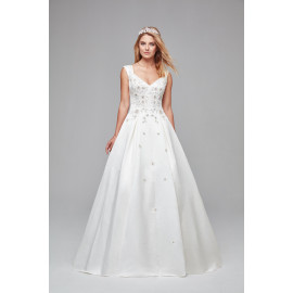 فستان زفاف مرصع بالالماز