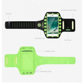 حامل هاتف على الذراع للهواتف الذكية مقاس 4.7 بوصة، اللون الأخضر