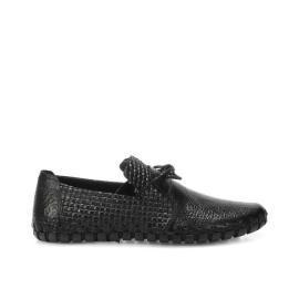 حذاء جلد طبيعي محجر