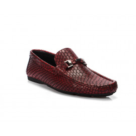 لوفي - حذاء زخرفة حرشفية جلد طبيعي 100%