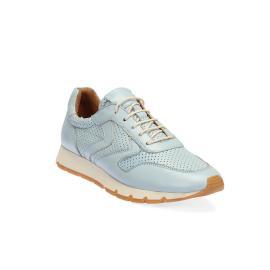 سنيكر - حذاء ازرق فاتح من الجلد الطبيعي
