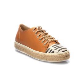 سنيكر - الحذاء القرميدي من الجلد الطبيعي