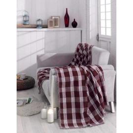 غطاء اريكة باللون الاحمر