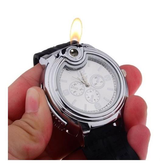 ساعة يد للرجال مع ولاعة الكترونية