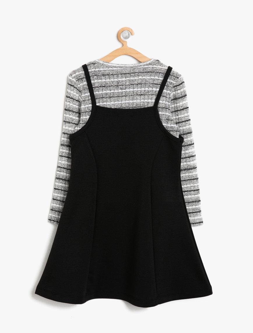 فستان فضي و اسود اللون من ماركة KOTON