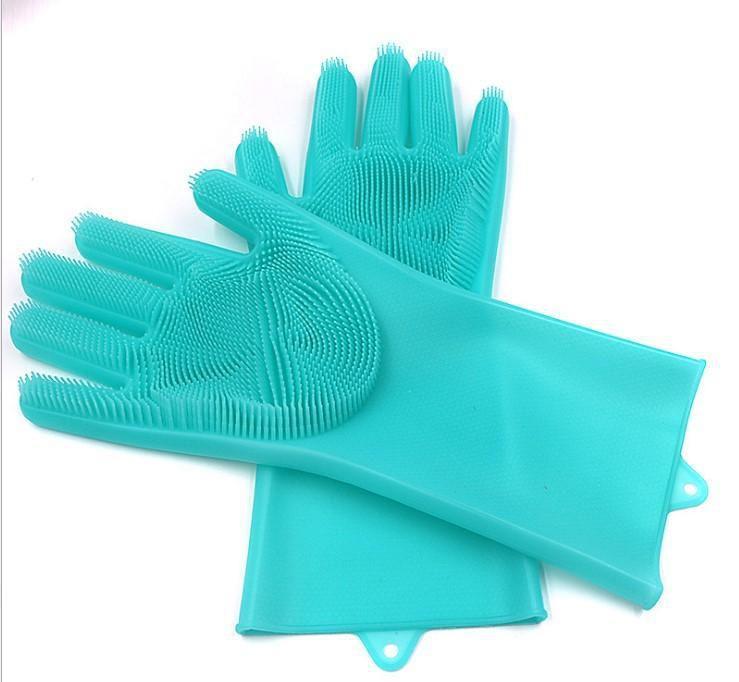 قفازات التنظيف للاواني واستعمالات التنظيف المتعددة المنزلية